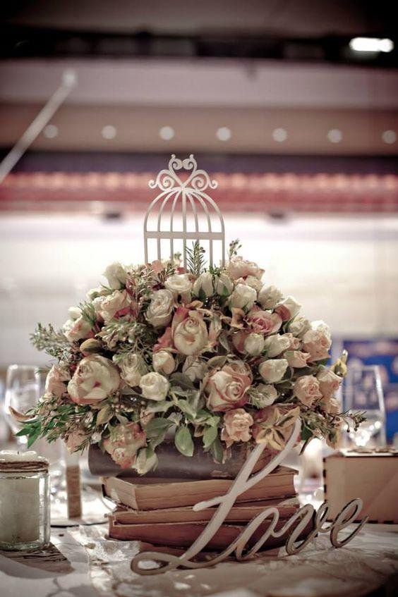 virágcsokor asztaldísz